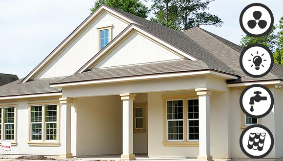 4-Point Home Inspections from Whole House Observations